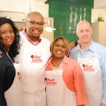 Team Aunt Jemima and Chef Aaron McCargo Jr.