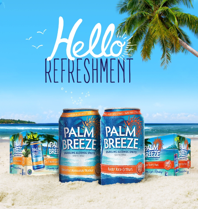 New Palm Breeze Sparkling Alcohol Spritz Offers A 'Vacay