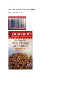 Zatarain's Red Beans and Rice Original (PRNewsFoto/Zatarain's)