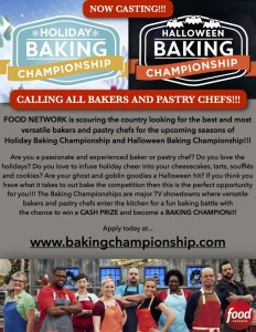 Casting Calls: Food Network Holiday Baking Championship and ...