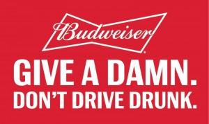 Budweiser and Lyft - Give A Damn Slogan Logo