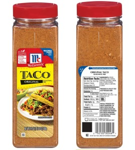 Original Taco Seasoning Mix 24 oz bottle (PRNewsFoto/McCormick & Company)