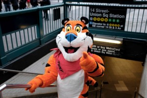 Tony the Tiger in NYC